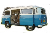 VW camper vans for hire - More Details About Blue - classic blue vw camper van
